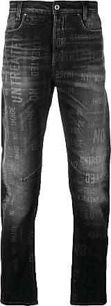 G-Star Raw Research Calça jeans com slogan - Preto