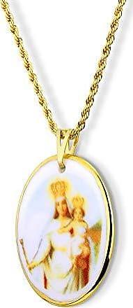 Design Medalhas Pingente Medalha Nossa Senhora Penha Ouro