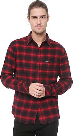 Ellus Camisa Ellus 2ND Floor Reta Xadrez Vermont Vermelha/Preta