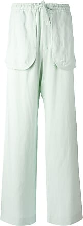 Qasimi external pockets straight trousers - Green