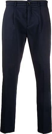 Department 5 Calça chino reta com acabamento engomado - Azul