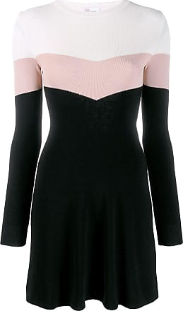 Red Valentino Vestido mini color block - Preto