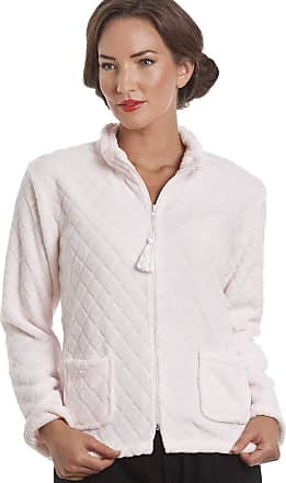 Camille Womens Soft Button and Zip Bed Jackets and Designs 22/24 Pink Zip