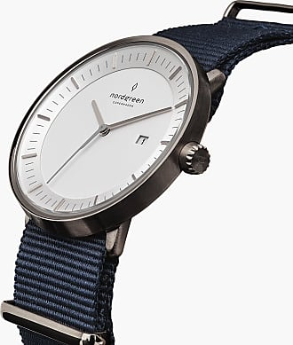 Nordgreen Philosopher - Gun Metal | Navy Blue Nylon - 40mm / Gun Metal