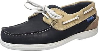 Quayside Womens Bermuda Boat Shoes, Blue (Navy/Sand), 3.5 UK (36 EU)