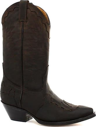 Wrangler TEXAS II HI Mens Leather Calf Length Western Pointed Cowboy Boots Tan