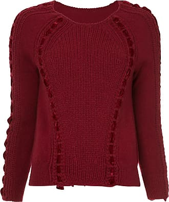 Onefifteen lace detail jumper - Red