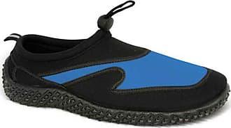Urban Beach Mens Aqua Socks Shoes Size UK 6-11 Swim SEA Blue Black Grey FW310 (UK 10/EU 44-45, Black/Blue)