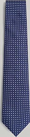 Hackett Micro Print Silk Tie   Navy