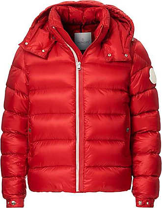 Moncler Arves Down Hooded Jacket Red