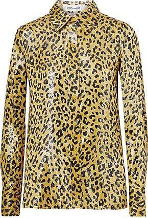 263ba973 Diane Von Fürstenberg Diane Von Furstenberg Woman Leopard-print Metallic  Silk-blend Jacquard Shirt