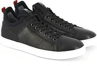 Nero Giardini Sneaker in pelle e tessuto scuba nero 42