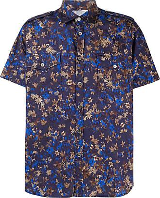 Department 5 Camisa com estampa floral e acabamento engomado - Azul
