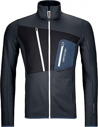 Ortovox Fleece Grid Jacket Fleecejacke für Herren | oliv/grau