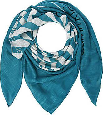 Calvin Klein Square Logo Scarf, Echarpe Femme, Bleu (Enamel Blue 429), a8e8f27359a