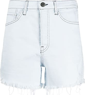 3x1 frayed-hem denim shorts - Blue