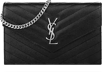 Saint Laurent Monogramme Envelope Chain Wallet Black Umhängetasche schwarz