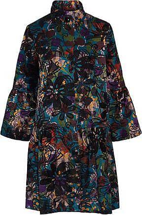 Anna Sui Anna Sui Woman Cotton-blend Jacquard Coat Teal Size XS