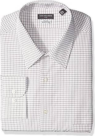 Van Heusen Mens Big Dress Shirts Tall Fit Flex Check, Desert, 18.5 Neck 37-38 Sleeve