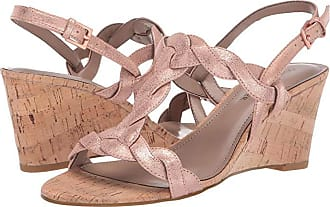Donald J Pliner Jooli (Rose Gold Tumbled Metallic Brush-Off) Womens Wedge Shoes