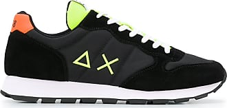 Sun 68 Sneakers in Colour-Block-Optik - Schwarz