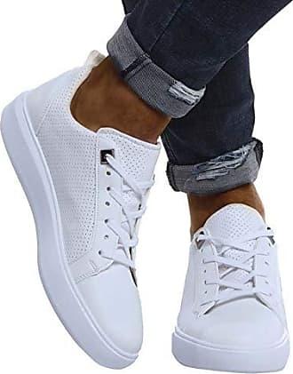LEIF NELSON Herren Schuhe für Freizeit Sport Freizeitschuhe Männer Weisse Sneaker Sommer Coole Elegante Sommerschuhe Sportschuhe Weisse Schuhe für Jungen Wintersc