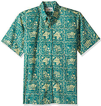 acb972d88 Reyn Spooner Mens Lahaina Sailor Spooner Kloth Classic Fit Hawaiian Shirt,  Emerald, XXL
