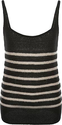 Khaite Blusa de tricô com listras - Preto