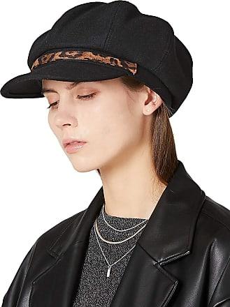 Men/'s Major Wear Black Big Apple Oversized 8 Pane Woolmixl Bakerboy Cap