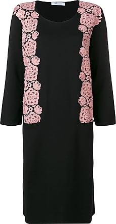 Blumarine floral embroidery sweater dress - Preto