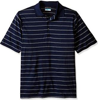 8dabe7d575 PGA TOUR Mens Big Big & Tall Golf Performance Short Sleeve Stripe Polo Shirt,  True