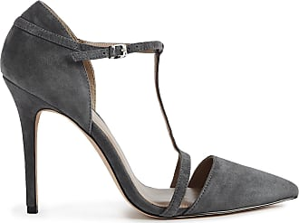 a22ed721c1 Reiss Josephine - Suede Point Toe T-bar Heels in Grey, Womens, Size