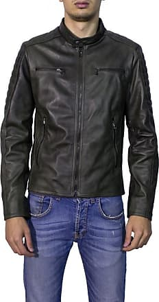 Leather Trend Italy U05 - Giacca Uomo in Vera Pelle colore Verde Invecchiato