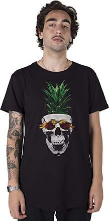 Stoned Camiseta Longline Pineapple Skull - Llnpinesku-pt-01