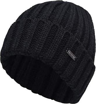 Firetrap Mens Knitted Cable Beanie Headwear (Black, N)