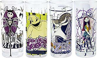 Disney Silver Buffalo NB031T2 Disney Nightmare Before Christmas Glass Tumbler Set, 4-Pack