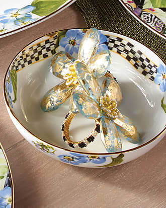 MacKenzie-Childs Thistle & Bee Soup Bowl