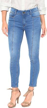 Enna Calça Jeans Enna Skinny Recortes Azul
