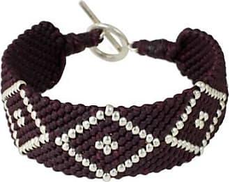 Novica Silver and polyester braided bracelet, Karen Geometric