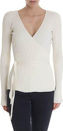 Baum Und Pferdgarten Sweater wrap crossing in cream white
