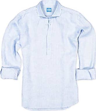 Panareha MAMANUCA linen polera shirt light blue