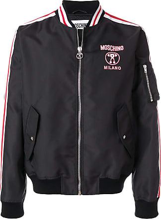 1ed2f90f243 Moschino double question mark bomber jacket - 1555 Black Multi