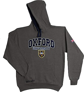 Oxford University Official Licensed Applique Hoodie (Charcoal, Medium)
