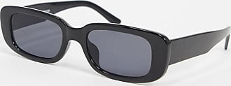 Monki Ray - Occhiali da sole rettangolari neri-Nero