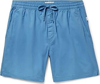 Onia Aiden Slim-fit Cotton-twill Drawstring Chino Shorts - Light blue