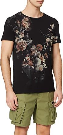 Religion Mens Dark Flower T-Shirt, Black, XXL