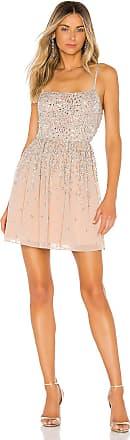 X by NBD Katy Mini Dress in Beige