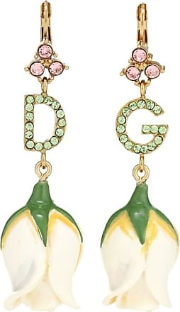 Dolce & Gabbana DG embellished tulip earrings