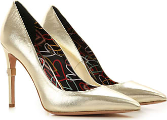 Elisabetta Franchi Pumps & High Heels for Women On Sale, Gold, Leather, 2017, 10 7