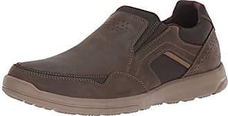Rockport Mens Welker Casual Slip On Shoe, dark bitter chocolate, 8 W US